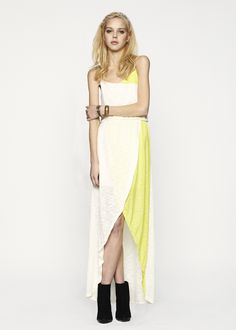 Lemay High Low Maxi in Chartreuse available @Saks Fifth Avenue