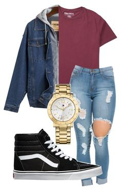 """Untitled #122"" by rabiamiah on Polyvore featuring Billabong, Vans and Tommy…"
