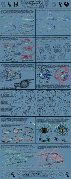 Dragon tutorial Part I by ~cheesefreeak on deviantART
