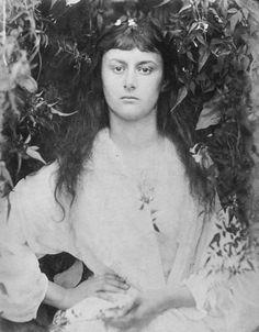 "Alice Liddell (namesake for Lewis Carroll's ""Alice in Wonderland"") photo by Julia Margaret Cameron (1872)"