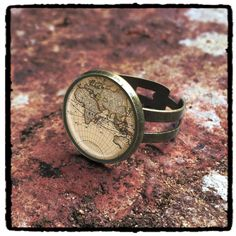 Hey, I found this really awesome Etsy listing at https://www.etsy.com/listing/202299687/globe-ring-steampunk-ring-world-map-ring