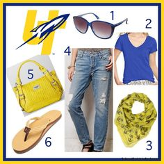 Toledo Rockets gameday outfit with boyfriend jeans, sunglasses, hobo purse, rainbows, scarf