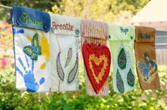 The Prayer Flag Project. This is the perfect project to keep my girls busy on their 4 day weekend :)