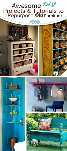 DIY Makeover Projects & Tutorials to Repurpose Old Furniture!