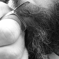 Brush your beard with a ring