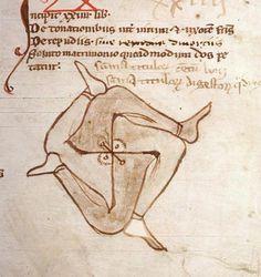 El aburrimiento en la Edad Media: Garabatos de hace 800 años
