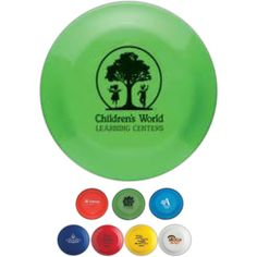 "Made from plastic, these 9"" flying discs are ideal for promoting a wide range of businesses! Proudly made in the USA they come in transparent colors and can be imprinted with your company name, logo or message. Toss them out during sporting events, charity fundraisers and school activities or use as an eye-catching tradeshow giveaway. An environmentally friendly promotional product to help your brand ""soar""!"