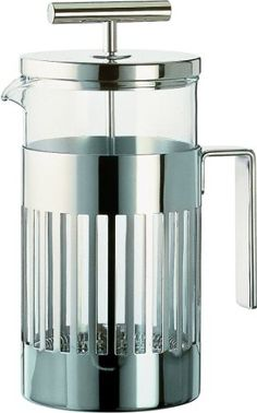 Aldo Rossi Press Filter Coffee Maker or Infuser Color: Stainless Steel by Alessi