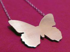 Butterfly Pendant  Butterfly necklace by noyasilverjewelry on Etsy, $44.00