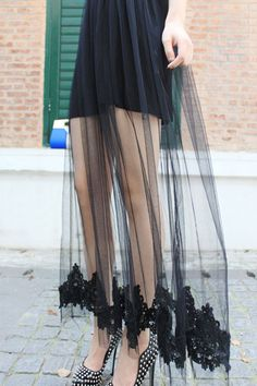 Crochet Flower Pattern Ankle Length Dress OASAP.com