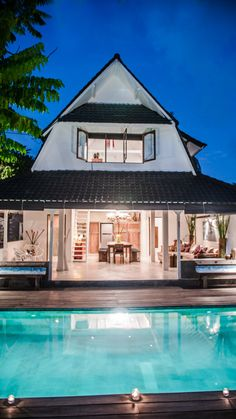 """Bali, Seminyak: 3 BDR Villa USD$145/per night. Villa Monkey is a uniquely designed 3 bedroom villa that can host up to 8 people. This gorgeous property is found in a quiet alleyway in Seminyak, a mere 500 meters from what is locally known as """"Eat Street"""", Jalan Kayu Aya, arguably one of Bali's most sought-after areas. This street is famous for its → Read more"""