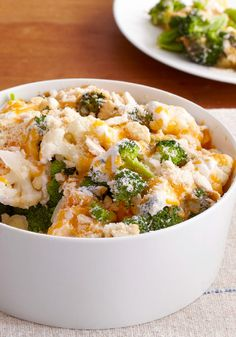 Easy Cauliflower & Broccoli au Gratin — Here's a creamy and crowd-pleasing dish to share: Easy Cauliflower & Broccoli au Gratin. Cheese fans will rejoice when they try the ooey, gooey sauce.
