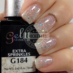 Gel II Extra Sprinkles from the Limited Edition Birthday Bash Collection Teal Nails, Sns Nails, Uv Gel Nails, Acrylic Nails, Manicure Nail Designs, Manicure Y Pedicure, Manicure Ideas, Mani Pedi, Glitter Gel Polish