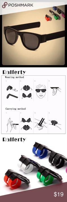 Silk sunglasses 😎 Ralferty Mini Folding Polarized Sunglasses Women Men Outdoor New Zealand Trendy Sport Sun Glasses UV400 Black around Accessories Glasses