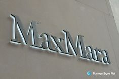 3D LED Backlit Signs With Brushed Bronze Letter Shell & 20mm Thickness Acrylic Back-panel For MaxMara. After some special process, we make the brushed 304 stainless steel letter shell looks like the brushed bronze letter shell.    If you need to custom signs like this, please click the image then fill out the form and tell us your needs now.