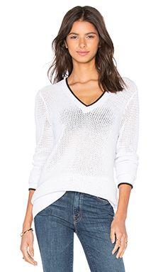 rag & bone/JEAN Maeve V Neck Sweater in White