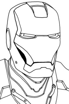 head iron man suit coloring pages