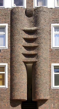 Amsterdamse school Brick Architecture, Futuristic Architecture, Historical Architecture, Amazing Architecture, Architecture Details, Building Structure, Brick Building, Amsterdam School, Brick Art
