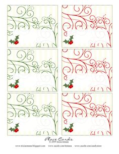 Tricia-Rennea, illustrator: Christmas Place-Cards and Ideas