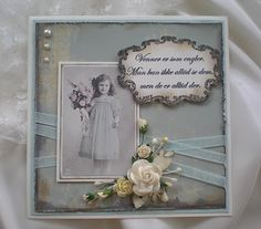 Vintage card by Iren S. Mikalsen, friends are like angels
