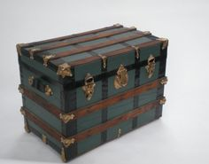 Antique Steamer Trunk / Refurbished