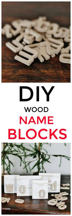 Looking for a super simple project for your home or to give as a gift? Here are step-by-step instructions on how to make DIY wood name blocks from molding. Crafts To Make And Sell, How To Make Diy, Diy And Crafts, Crafts For Kids, Creative Crafts, Easy Projects, Wood Projects, Craft Projects, Woodworking Projects