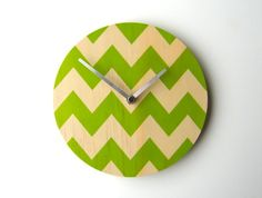 Can't get enough of Chevron.  Cheap as chips. Objectify Chevron Wall Clock