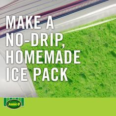 Make your own mess-free ice pack: soak sponges in water and freeze them in plastic bags to keep your meal cool until lunch.