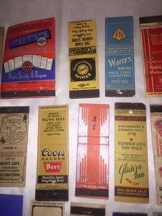 Vintage Pre-1960's Advertising Match Book Covers Lot of 54 Hotels Diners More