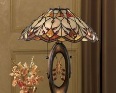 Golden Stained Glass Table Lamp