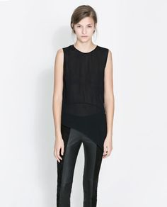 Image 1 of ROUND NECK BLOUSE from Zara