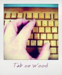 Tab on Wood Computer Keyboard, Polaroids, Electronics, Wood, Computer Keypad, Woodwind Instrument, Trees, Home Decor Trees, Consumer Electronics