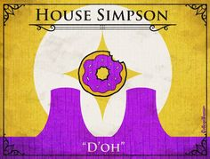 "House Simpson    (from ""Game of Thrones House Sigils for Other TV Families"")"