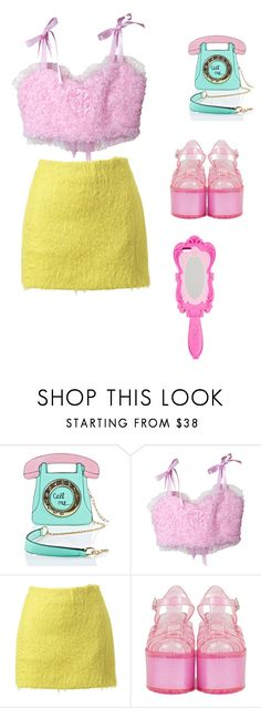 """""""Untitled #2486"""" by mollface ❤ liked on Polyvore featuring 3 AM Imports, Simone Rocha and Moschino"""