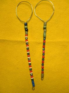 2 Large Handcrafted Beaded Bubble Wands  112 inches by Kats3meows, $13.50