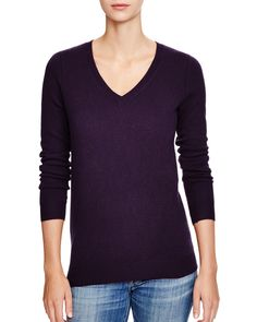 C by Bloomingdale's V-Neck Cashmere Sweater | Bloomingdale's