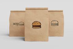 Hamburger sketch illustration