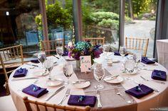 Ceremony and Reception held at 2941 Restaurant in Falls Church, Virginia. Blue Wedding Arrangements, Table Arrangements, Reception Table, Reception Decorations, Table Decorations, Centerpieces, Falls Church, Real Weddings, Summer Weddings