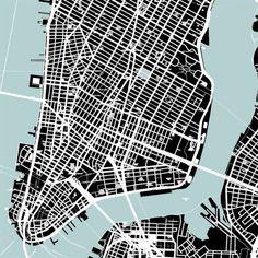 architecture plan figure-ground _ Manhattan