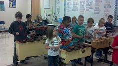 Orff (and Mr. E) with 1st and 4th grade