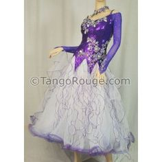 Share me and get 5% off coupon Amethyst Sequin Ballroom Standard / Smooth Dance Dress - M