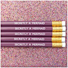 Violet HB pencils are hand stamped with white foil lettering and come sharpened ready to use with gold ferrule and matching white rubber on top in case you make a mistake when making those lists or daily doodles!  Pencils are £1.20 each and sold individually to allow you to choose your own quantity.  We also have a matching Secretly A Mermaid Pen (£2.50) available in our shop - see other listing!  ▬▬▬▬▬▬▬▬▬▬▬▬▬▬  ★ FLAT RATE DELIVERY ★  We aim to dispatch your order within 3 working days…