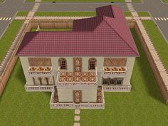 Lebanese architecture  inspired house #sims #freeplay #house design