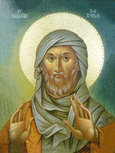 'Blessed the one who has become a good ploughman of the virtues and raised a harvest of fruits of life in the Lord, like a ploughed field bearing wheat. Ephrem of Syria Religious Images, Religious Icons, Religious Art, Byzantine Icons, Byzantine Art, Saint Esprit, Russian Icons, Religious Paintings, Religion