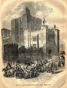 Cassell's English History - QUEEN ELIZABETH'S RECEPTION AT KENILWORTH CASTLE - Engraving - 1857