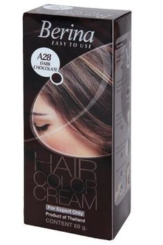 Berina Permanent Hair Dye Color Cream (A28 Dark chocolate) >>> Read more reviews of the product by visiting the link on the image.