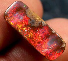 Raw Fire Opal | 00 CTS BRILLIANT RED FIRE BOULDER OPAL JO2119