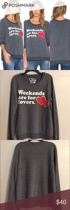 "NWT Chaser Brand Weekends are for Lovers S Brand new with tags super soft and cozy Sweatshirt from Chaser Brand. Size Small. ""Weekends are for Lovers"" Chaser Tops Sweatshirts & Hoodies"