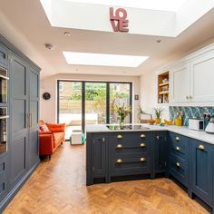 "Herringbone Kitchens on Instagram: ""This extension in  Dulwich is now on the website! I love how this kitchen just proves you do not need a huge space to make a massive…"""