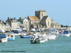 Barfleur harbour in Normandy France